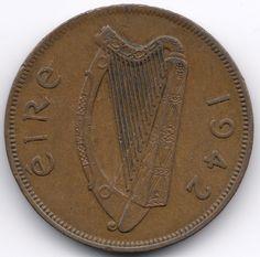 Ireland 1 Penny 1942 op eBid België