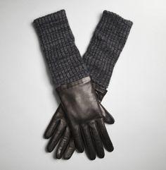 Handschoenen van leer & wol | Een goede oplossing voor leren handschoenen die net te kort zijn: naai er een beenwarmer aan vast