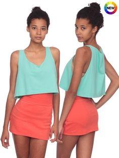 Interlock Mini Skirt   Shop American Apparel - StyleSays