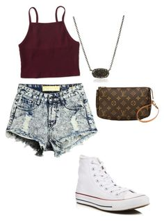 """Untitled #45"" by gracie-mccollough on Polyvore featuring Aéropostale, Converse, Kendra Scott and Louis Vuitton"