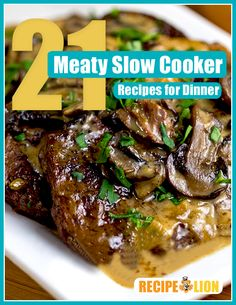 21 Meaty Slow Cooker Recipes for Dinner free eCookbook - Filled with slow cooker recipes for chicken, beef, pork and more!