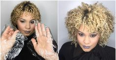 When my curly models were onstage, the bright hot lights would cause frizz. That's when I started using plastic wrap and gloves to apply product to their hair.