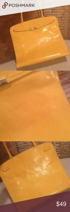 👜Furla Genuine Leather Handbag In Good Condition! Cute sturdy Genuine Leather Handbag w/ magnetic clasp. Minor spot on the back of purse, as seen in last photo. Some wrinkles from use—as seen in photos.  10.5'' - Width 9'' - Height 6.5'' - Depth  🌼Perfect for Spring!🌼 Furla Bags