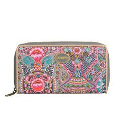Love this Iron Floral Travel Wallet on #zulily! #zulilyfinds