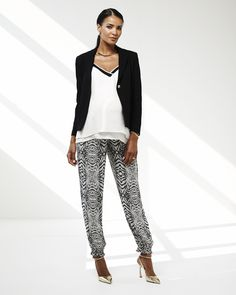 Rebecca Minkoff Under Belly Crepe De Chine Relaxed Fit Slim Leg Maternity Pants