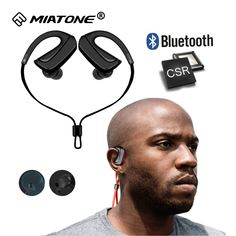 [ 20% Off ] Wireless Sport Bluetooth Earphone Noise Cancelling Sweatproof Bluetooth Headphones Headset with Mic for Iphone Xiaomi Cell Phone