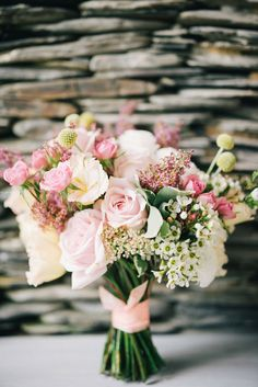 Blush pink and white bridal bouquet // Gatsby on the Beach: Sai Meng and Allison's Langkawi Wedding