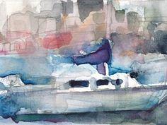 #EBAY - Boat - Size 4 3/4 x 3 - ORIGINAL #WATERCOLOR  @eBay! http://r.ebay.com/PoHtpA