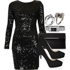 A fashion look from January 2015 featuring Motel dresses, Jimmy Choo pumps and BCBGMAXAZRIA clutches. Browse and shop related looks.