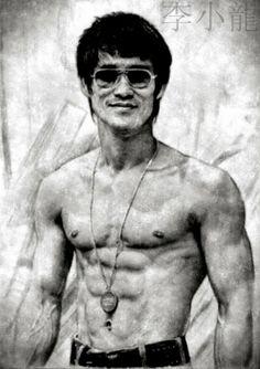 Poster - Pencil Sketch Of Bruce Lee (Mixed Martial Arts Ufc Mma Fighter) Bruce Lee Body, Bruce Lee Art, Bruce Lee Martial Arts, Mixed Martial Arts, Kung Fu, Bruce Lee Frases, Bruce Lee Workout, Bild Gold, Bruce Lee Pictures