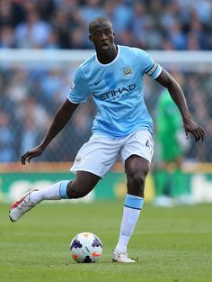 ~ Yaya Toure of Manchester City against Stoke City ~ - Best Football Players, Good Soccer Players, Football Soccer, Yaya Toure, Manchester City Wallpaper, Most Popular Sports, Stoke City, English Premier League, Man United