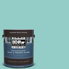 BEHR Premium Plus Ultra 1-gal. #500D-4 Jamaica Bay Satin Enamel Exterior Paint