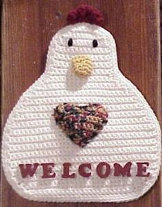 Free Chicken Crochet Patterns | images of Free Crochet Patterns Plastic Bag Holder