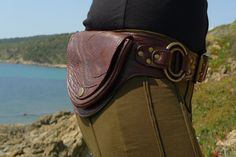 Leather Utility Hip Belt Bag   DOUBLE RING   D.BROWN by offrandes. Changed my mind I want this one!