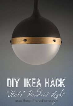 IKEA Hacks and DIY Hack Ideas for Furniture Projects  and Home Decor from IKEA -  DIY Ikea Hack Hicks Pendant Light - Creative IKEA Hack Tutorials for DIY Platform Bed, Desk, Vanity, Dresser, Coffee Table, Storage and Kitchen Decor http://diyjoy.com/diy-ikea-hacks