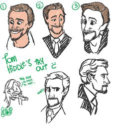 Tom Hiddleston sketch by ~wa-wa-wa-wa on deviantART. This chick is really good most of these look just like him. And yes, he is easy to art. Thats why I do so many pictures of him and his characters.