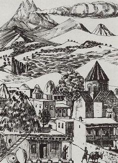 'Armenian village', 1929 by Martiros Saryan (1880-1972, Russia)