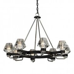 Buy the Troy Lighting Forged Iron / Polished Nickel Direct. Shop for the Troy Lighting Forged Iron / Polished Nickel Faction 8 Light Wide Chandelier with Glass Shades and save. Wagon Wheel Chandelier, 5 Light Chandelier, Chandelier Shades, Modern Chandelier, Chandeliers, Troy Lighting, Custom Lighting, Polished Nickel, Glass Shades