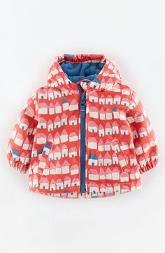 Mini Boden Water Resistant Fleece Lined Jacket (Baby Girls)