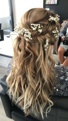 Pin By Roots Hair Studio On Wedding Hairstyles In 2019 Long Hair Wedding Styles, Wedding Hair Down, Wedding Hairstyles For Long Hair, Wedding Hair And Makeup, Bride Hairstyles, Down Hairstyles, Cute Hairstyles, Bridal Hair, Hair Makeup