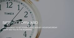 Don't forget to set your clocks 1 hour ahead tonight. We will see you in the morning!  #SpringForward #NewLifeNC #Joinus #Sunday www.newlifenc.com