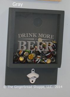 Drink More Beer/bottle Cap Holder/bottle Opener/beer Decor/bar Decor/father's…