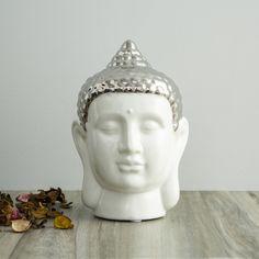 Vitara Buddha Head Figurine   White   Ceramic Blush And Grey Living Room, Buddha Head, White Ceramics, Home Accessories, Stuff To Buy