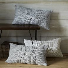 Knotted Rib Pillow Cover via West Elm