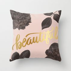 Beautiful Throw Pillow by magicmaia - $20.00