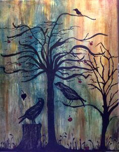 A Crow with no name Acrylics on canvas Acrylics, Artsy Fartsy, Crow, Art Photography, Canvas, Painting, Tela, Raven, Fine Art Photography