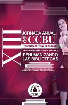 Promocional de la XIII Jornada anual del CCBU, mayo 2015