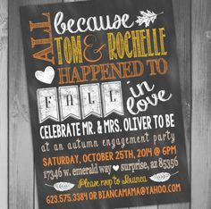 Engagement Party Invitation Rustic Engagement by CLaceyDesign, $15.00