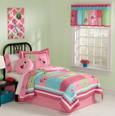 Snug as a bug in a rug she will be in Gardener's Friend Quilt Set.  How Cute for a little girl!