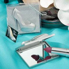 Shoe design mirror compacts