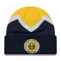 a81900f328d Men s Denver Nuggets New Era Navy 2018 Tip Off Series Cuffed Knit Hat