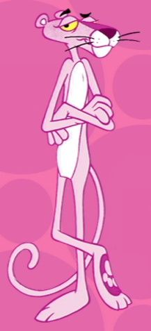 Pink Panther. Love the music or tune for this cartoon...it's ringing in my head now. :D