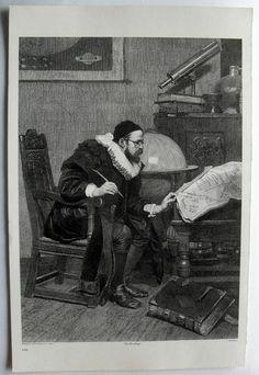 $24.99  THE ART Journal Steel Engraving Print THE Astrologer BY J Demannez | eBay