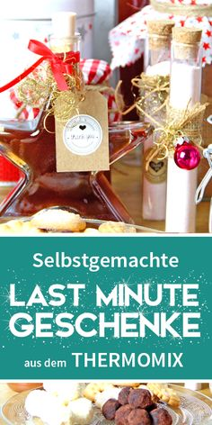 Weihnachten steht vor der Tür und du hast noch kein Geschenk? Kein Problem, auf meinem Blog findest du über 50 Last Minute Geschenkideen aus dem Thermomix. Damit du nicht mit leeren Händen da stehst. Und über selbstgemachtes aus der Küche freut sich doch jeder :-)