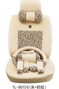 ON SALE#NEW OULILAI Leopard Print Car Seat Covers Accessories Set 18PCS 2 Colors