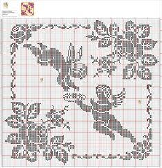 Kira scheme filet crochet: Scheme crochet no. Stitch And Angel, Cross Stitch Angels, Cross Stitch Borders, Cross Stitch Charts, Cross Stitching, Cross Stitch Embroidery, Cross Stitch Patterns, Crochet Angels, Crochet Cross