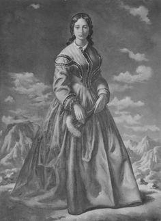 Painting of Bernice Pauahi Bishop (1831-1884).
