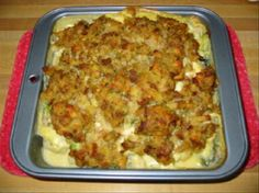 stove top onedish chicken bake with vegetables