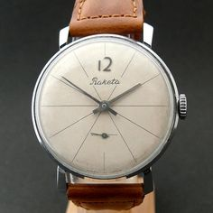 Raketa watch. Made in URSS #lifestyle #watch #time #clock #wrist #URSS #soviet #minimal #design #leather #vintage #old #retro