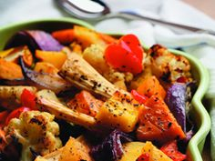 Recipes - Maple roasted vegetables - Heart and Stroke Foundation of Canada Heart Healthy Recipes, Vegetarian Recipes, Roasted Vegetables, Veggies, Main Dishes, Side Dishes, Vegetarian Main Course, Dash Diet, Finger Foods