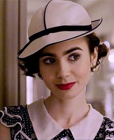 Lily Collins as Cecelia Brady in The Last Tycoon 2016 gif