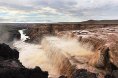 Grand Falls (Chocolate Falls) in Navajo Nation-In the Painted Dessert, AZ