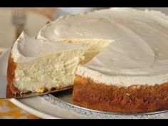 Classic New York Cheesecake with Sweetened Sour Cream Topping - All Comfort Food