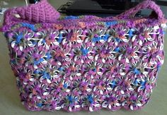 Rainbow rose pop tab purse by DevotedStitches on Etsy, $67.00