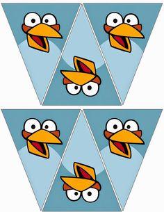 Banderines de Angry Birds para Imprimir Gratis.