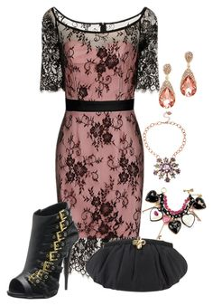 """Untitled #2258"" by rkdk1101 ❤ liked on Polyvore featuring Giuseppe Zanotti, Judith Leiber and Betsey Johnson"